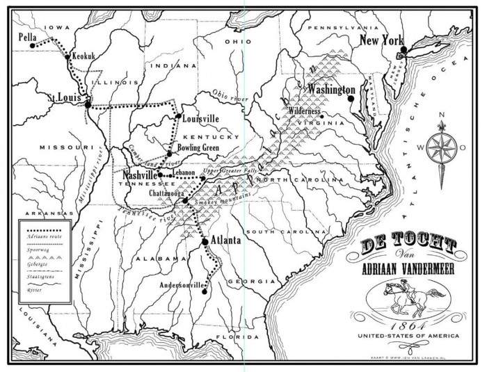 Landkaart voor het boek WEG