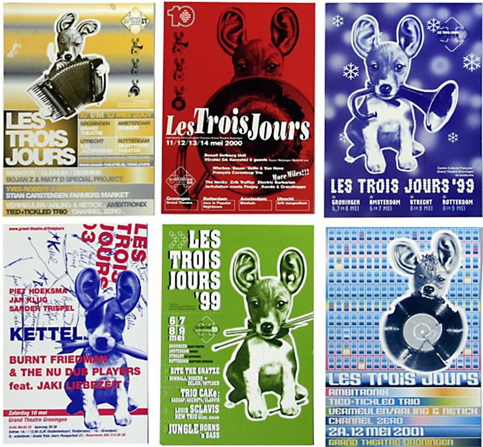 promotie kaarten voor Trois-Jours festival