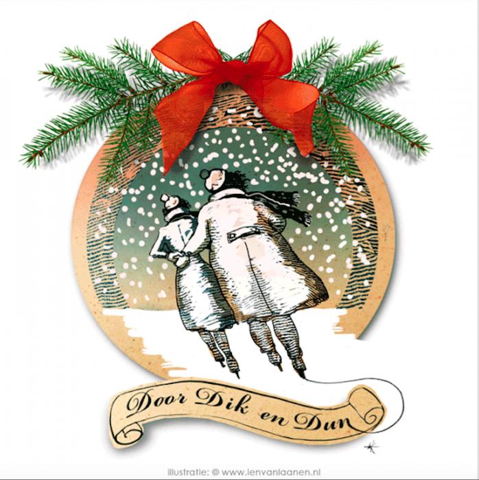 Kerstkaart voor de pluk
